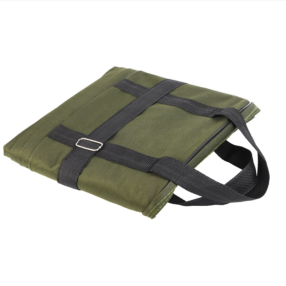 80cm Double Layer Canvas Fishing Bag Outdoor Collapsible Portable Fishing Rod Carrier Fishing Pole Tools Reel Gear Storage Case (9)