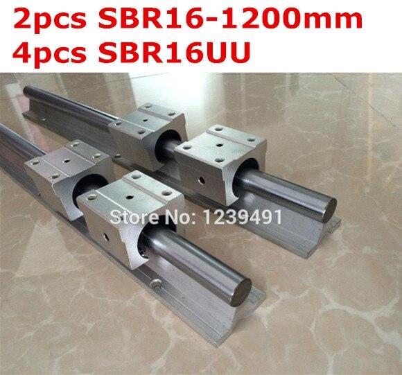 2pcs SBR16 - 1200mm linear guide + 4pcs SBR16UU block cnc router<br><br>Aliexpress