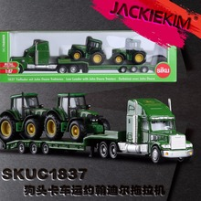 High Quality 1:87 Siku Truck With New Holland Tractors Model Toys 1805 LKW mit New Holland Traktoren Kids Toys Free Shipping
