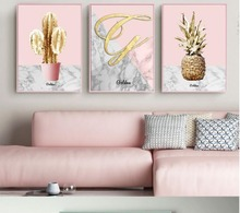 Lady House Pink Pineapple Art Canvas Art Print Painting Poster Giclee Print Wall Pictures For Home  Wall Decor 590