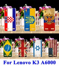 Soft TPU Phone Covers For Lenovo K3 A6000 Plus Cases K30-T A6010+ Lemon K3 A6000 Shell UK Mexico Russia National Flag Housing