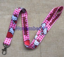 Lot 10Pcs Classic hello kitty Cartoon Mobile Cell Phone Lanyard Neck Straps Party Gifts MM913(China)