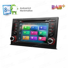 "7"" Android 6.0 Car DVD Player radio Fit for Audi A4/S4/RS4/SEAT Exeo with Octa-Core 64bit TPMS/2G RAM/OBD2/4G/DAB+/Online GPS"