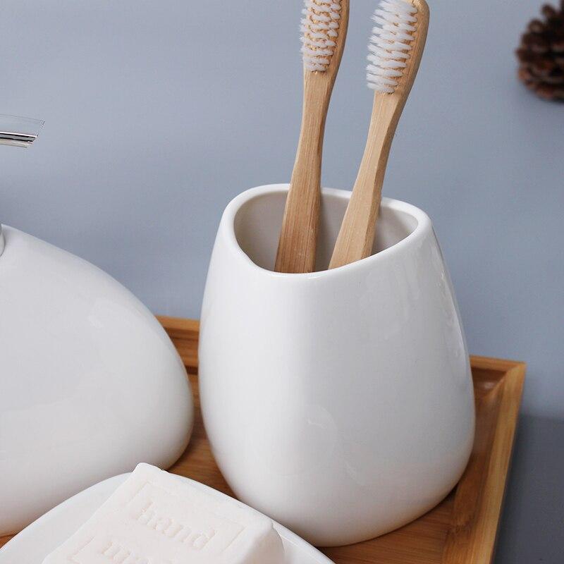 Bathroom-White-Soap-Dispenser-toothbrush-Accessories-Four-Piece-Set-Ceramics-Crafts-Kit-Banheiro-Salle-De-Bain (2)