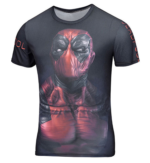 2016 Summer brand clothing Marvel Badass Deadpool Men's/Women 3d t shirt large size men's T-shirt swag Funny anime People(China (Mainland))