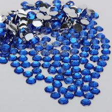 400 pcs 2mm - 6mm Mix Size Royal Blue Resin Acrylic Round Rhinestone Flatback Crystal Rhinestones Nail Art Decoration N11(China)