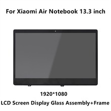 13.3 inch For Xiaomi Mi Notebook Air IPS LCD LED Screen Display Matrix Glass Assembly + Frame LQ133M1JW15 N133HCE-GP1 LTN133HL09(China)