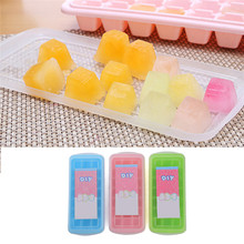 21 Grid DIY Creative Big Ice Cube Mold Square Shape Silicone Ice Tray Fruit Ice Cube Maker Kitchen Bar Accessories With Lid
