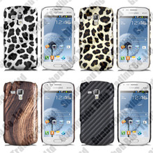 On stock carbon Leopard Pattern PC Case Cover for Samsung Galaxy Trend Duos S7562 with Hot Selling(China)