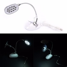 1PCS Portable 13LED USB Powerful desk lamp Flexible LED Lamp LED Torch with fan Hot Sale