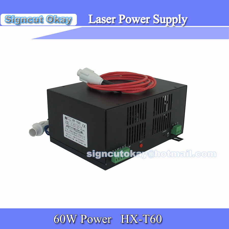 HY60w Co2 Laser Power Supply 220V/110V used for Co2 Laser Tube 60W for Co2 Laser Cutting and Engraving Machine High Quality(China (Mainland))