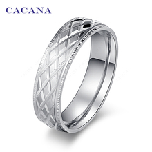CACANA Stainless Steel Rings For Women Shining Stainless Steel Fashion Jewelry Wholesale NO.R18(China)