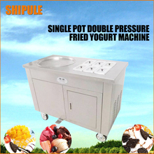 2017 new fruit fried ice fried ice machine single pan double pressure fried ice cream machine