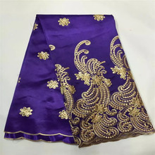 Hot buying African 5 yard geroge lace fabric with Sequins for woman or man wedding party dressing S73-29