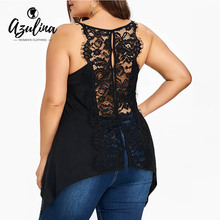 Buy AZULINA Lace Trim Cami Top New Tank Tops Women Camisole Vests Sexy Racer Back Ladies Tops Black Camis Plus Size Women Clothing for $9.99 in AliExpress store