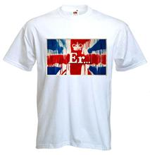 Print T Shirt Summer Style Fashion BANKSY ER.. MENS T-SHIRT - Union Jack Jubilee Graffiti - Choice Of Colours(China)
