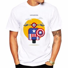 vespa super heros funny t shirt men 2017 Summer new Casual tee shirt homme Comfortable Breathable tshirts Plus Size t-shirts(China)