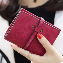 Excellent Quality Women Short Wallets Ladies Small Wallet Coin Purse Female Credit Card Wallet Purses Money Bag Christmas Gift