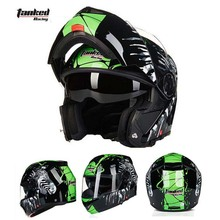 Tanked Racking T270 open face motorcycle helmet motorbike flip up moto off road motocross helmets safety cap(China)
