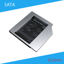 [Free DHL] High Quality Aluminum 9.5mm SATA to SATA Second HDD Caddy 2.5'' SATA 2nd HDD Hard Disk Drive Caddy - 100pcs/lot