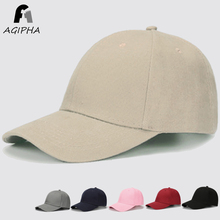 Solid Cotton Baseball Cap For Women Men Snapback Dad Hat With Retro Adjustable Durable Metal Buckle Black Pink Caps Type DM001