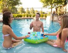 Play Equipment Environmental New Inflatable Pool Floating Party Water Bar Fun Beer Drink 7 Can Holder Table Mat Ice Bucket Gift