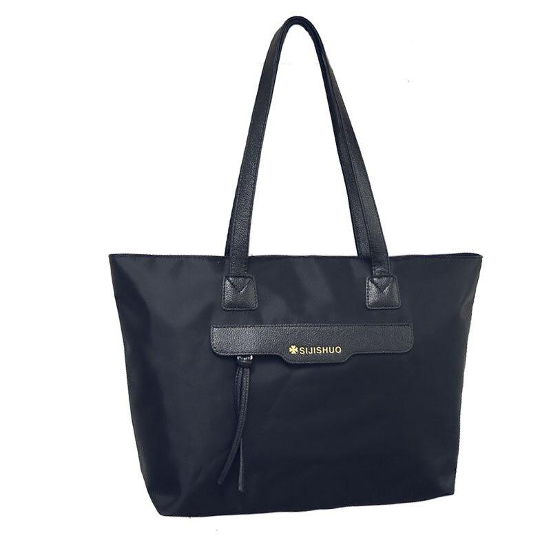 Top Quality Casual Waterproof Nylon Women Shoulder Bags Female Bag Solid Tassel Big Tote Bags zipper handbag for Girls bolsas <br><br>Aliexpress