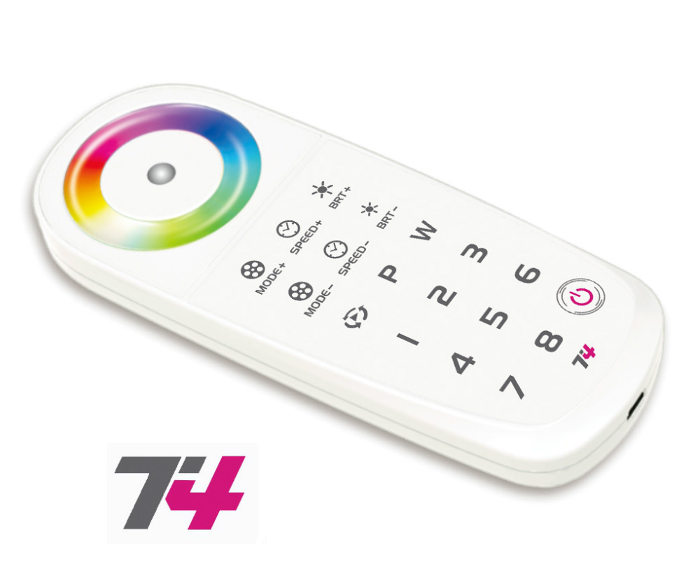 T4 2.4G LED Touch RGBW RF Remote Controller Wireless Control 8 Zone use with T4-CC/T4-CV For RGBW LED Strip Light Panel Lights <br>
