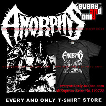Amorphis Death Doom Band Front cover 100% Cotton T-shirt Tee T