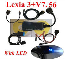 New !!! Lexia 3+ with LED Cable For lexia3 Diagnostic Tool pp2000 lexia 3,lexia-3 diagbox 7.56 software