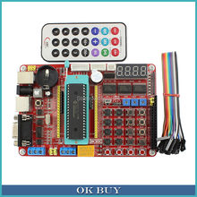 PIC Development Board Kit Microchip PIC16F877A Integrated Circuit Learning Board with Remote Control(China)