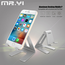 MR.YI Universal Phone Holder For iPad iPhone 7 6 6S Plus Samsung Galaxy 7 Edge 8 Plus Charging Hole Adjustable Tablet PC Holder