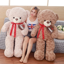 75cm plush toy ribbon love Xiong Baozhen home decoration teddy bear doll to friend's birthday present(China)