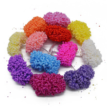 144pcs Foam Baby's breath Artificial Flower For Wedding Home Party Decoration DIY Scrapbooking Decorative Wreath Fake Flower(China)