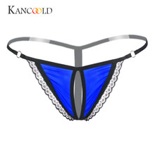 Buy KANCOOLD panties Lace briefs solid sexy underwear women G Strings Sexy Panties Underwear Lace Briefs Transparent Panties DEC7