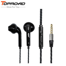 TOPROAD Stereo Bass Earphone Earpieces Headset with MIC 3.5MM Hands-free Headphones for Apple Samsung Sony HTC Mp3 Tablet PC(China)