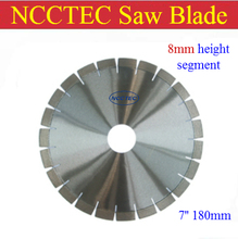 [8mm height segment] 7'' NCCTEC diamond CONCRETE dry saw cutting blade | 180MM cement road saw blade FREE FAST SHIPPING(China)