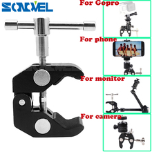 11''Multi-function Adapter Camera cradle head Magic Friction Arm Mount Super Crab Clamp Articulating For Gopro LCD Monitor phone
