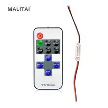 1Pcs Single Color Remote Controler Dimmer DC 12V 11keys Mini Wireless RF LED Controller for led Strip light SMD 5050 / 3528(China)