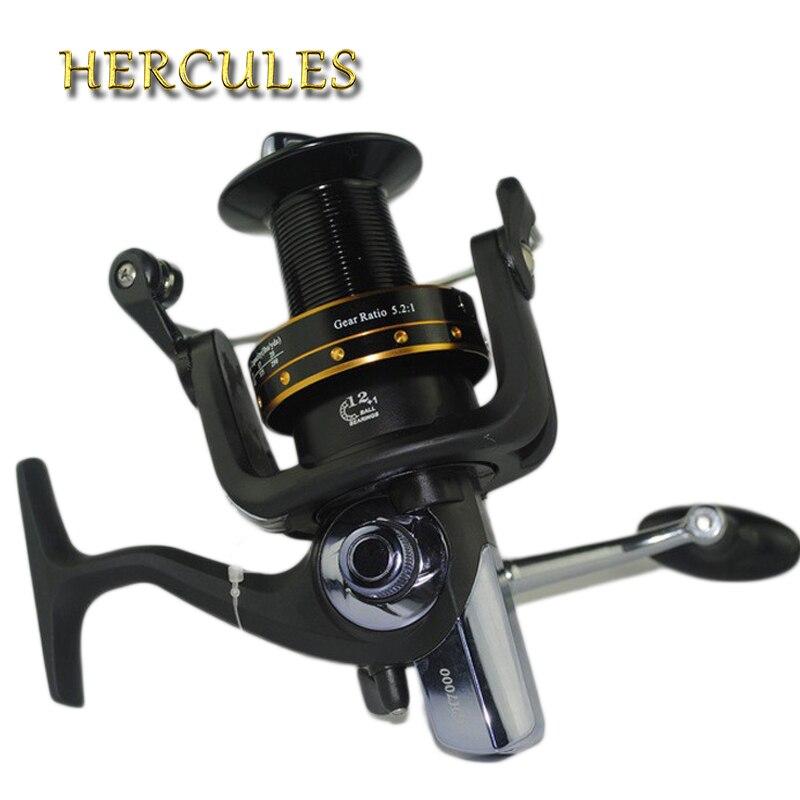 Hercules Spinning Fishing Reel 13 BB Ball Bearings 5.2:1 Carp Reels Worm Shaft Distant Wheel 6000 Series Carp Reel Fishing Reel<br>