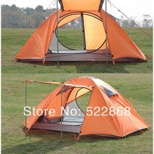 Outdoor camping tent double bunk quarters full anti- adhesive aluminum pole tent waterproof tent(China)
