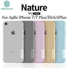 For iPhone 7&7 plus Case Nillkin Nature Series Transparent Clear Soft TPU Case For iPhone 5S/6&6plus cover case