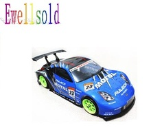Ewellsold 1:10  Remove control car 1/10 RC car  Body Shell  190mm 012 blue free shipping