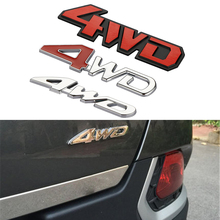 Car Styling 3D Chrome Metal Sticker 4WD Emblem Badge Decal SUV Rear Off-road For Jeep Land Rover Discovery Toyota Highlander
