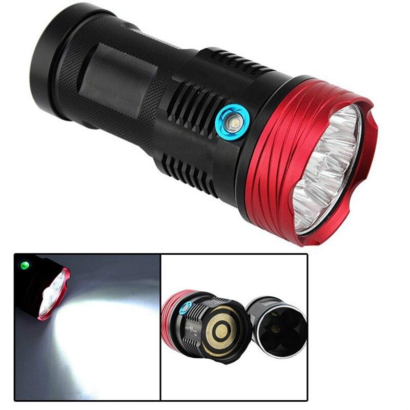 BestFire High power 15000 lumen 9T6 LED flash lamp waterproof flashlight camping hunting, patrol<br>