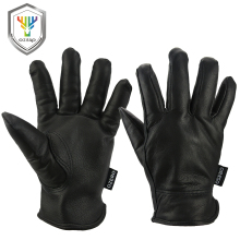OZERO Work Gloves Deerskin Leather Security Protection Safety Garden Driver Workers Warm Sports MOTO Black Gloves For Men 8002(China)