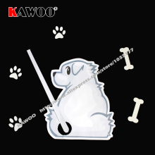 KAWOO DIY Auto Accessories Cartoon Animals Funny Dog Moving Tail Stickers Car Window Wiper Decals Stickers Car Styling(China)