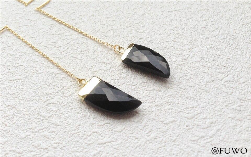 Natural Black Onyx Earrings 10