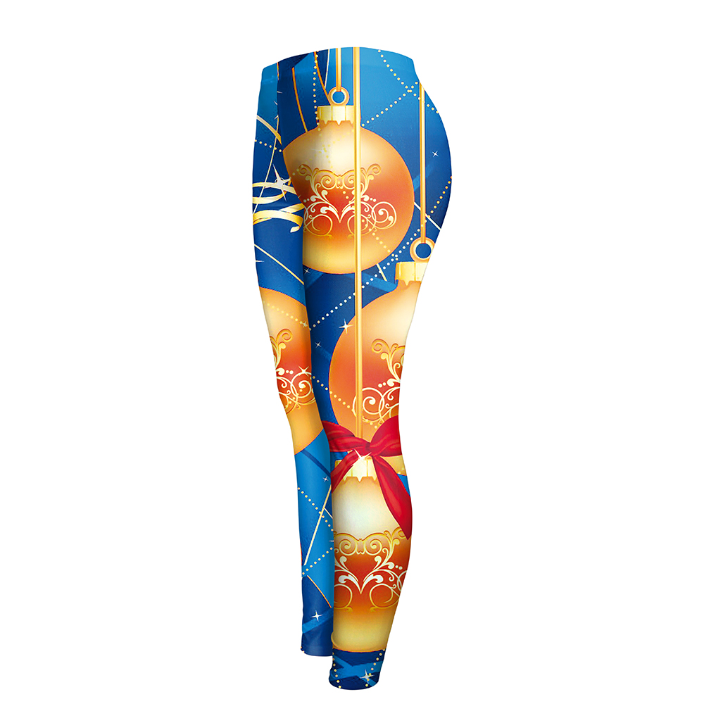 Women's Christmas 3d Digital Print Leggings, High Waist Elastic Leggings 22