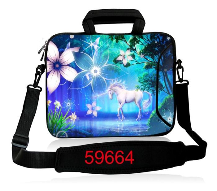 Unicorn 10.6 12 13.3 14 15 17 17.3 Tablet PC Portable Laptop Bag Notebook Case Cover Sleeve Shoulder Strap,Outside Pocket<br><br>Aliexpress